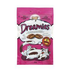 Bucățici de recompensă pentru pisici - DREAMIES perinițe cu carne de bovin, 60g