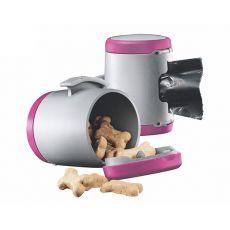 Flexi Vario Multi Box - Dispenser pentru bobițe și pungi igienice - culoare roz