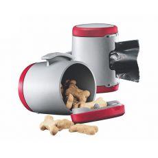Flexi Vario Multi Box - Dispenser pentru bobițe și pungi igienice - culoare: roșu