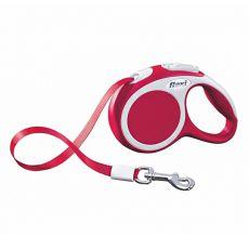 Lesă Flexi Vario XS, pentru animale de până la 12kg, lungime coardă 3m - culoare roșie
