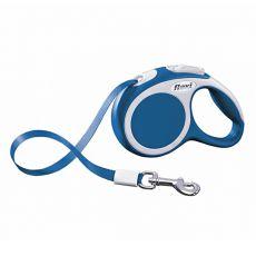 Lesă Flexi Vario XS, pentru animale de până la 12kg, lungime coardă 3m - culoare albastră