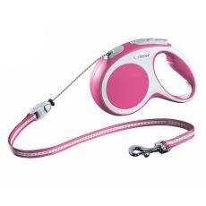 Lesă Flexi Vario M, pentru câini de până la 20kg, lungime coardă 5m - culoare roz