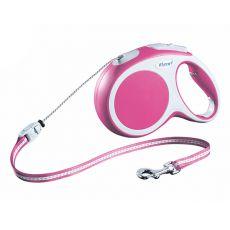 Lesă Flexi Vario M, pentru câini de până la 20kg, lungime coardă 8m - culoare roz