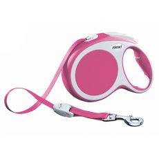Lesă Flexi Vario L, pentru câini de până la 50kg, lungime coardă 8m - culoare roz