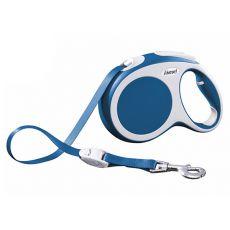 Lesă Flexi Vario L, pentru câini de până la 60kg, lungime coardă 5m - culoare albastră