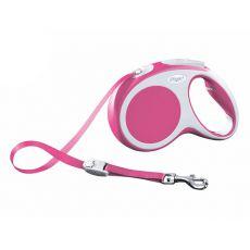 Lesă Flexi Vario M, pentru câini de până la 25kg, lungime coardă 5m - culoare roz