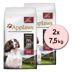 Applaws Dog Adult Small & Medium Breed Chicken & Lamb 2 x 7,5kg