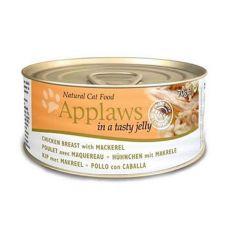 Applaws Cat Jelly - conservă pentru pisici cu pui și macrele, 70g