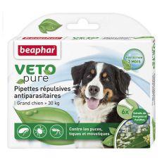 Picături împotriva insectelor pentru câinii de talie mare, naturale - 6 bucăți