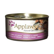 Applaws Cat - conservă pentru pisici cu macrele și sardele, 70g
