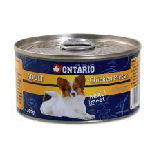 Conservă ONTARIO pentru câinii adulți, Bucăți de Pui +  Nugget, 200g