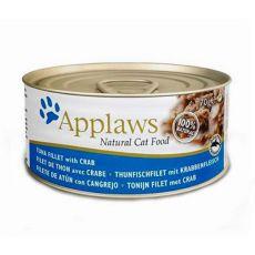 Applaws Cat - conservă pentru pisici cu ton și creveți 70g