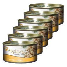 Applaws Cat - conservă pentru pisici cu piept de pui, 6 x 70g