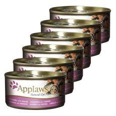 Applaws Cat - conservă pentru pisici cu macrele și sardele, 6 x 70g