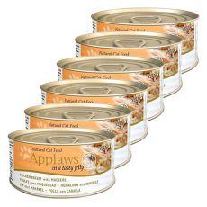 Applaws Cat Jelly - conserva pentru pisici cu pui și macrele 6 x 70g