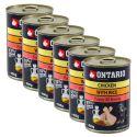 ONTARIO Conservă pentru cățeluși, Pui și Orez cu Ulei de Floarea-Soarelui - 6x400g