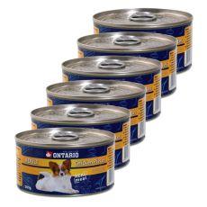 ONTARIO Conservă pentru câinii adulți, Bucăți de Pui + Nugget, 6 x 200g