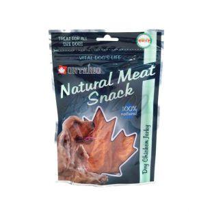 Ontario Dry Chicken Jerky snack pentru câine, 70 g