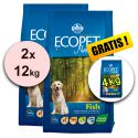 Farmina MO P ECOPET N dog FISH MAXI 2 x 12kg + 4kg GRATUIT