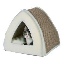 Culcuș pentru pisici Jessa, culoare bej - 40 x 40 x 38 cm