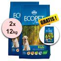 Farmina MO P ECOPET N dog FISH MEDIUM 2 x 12 kg + 4 kg GRATUIT