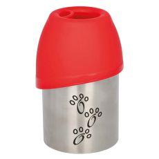 Sticlă de voiaj cu recipient, pentru câini, 300 ml