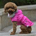 Jachetă pentru câine cu buzunar fals - roz, M
