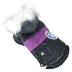 Jachetă pentru câine, cu patch - negru, S