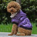 Jachetă pentru câine, cu manşete negre - mov, XS