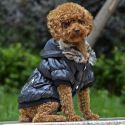 Jachetă pentru câine, cu manşete negre - negru, L