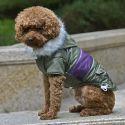Jachetă pentru câine, cu patch - kaki, S