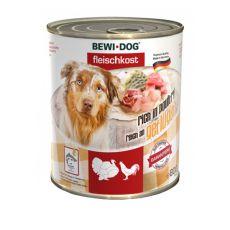 Nou Conservă BEWI DOG – Poultry, 800g