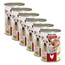 Nou Conservă BEWI DOG – Chicken- 6 x 400g, 5+1 GRATUIT