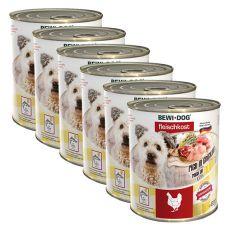 Nou Conservă BEWI DOG – Chicken - 6 x 800g, 5+1 GRATUIT