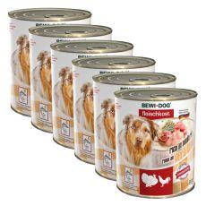 Nou Conservă BEWI DOG – Poultry - 6 x 800g, 5+1 GRATUIT