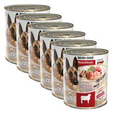 Nou Conservă BEWI DOG – Lamb - 6 x 800g, 5+1 GRATUIT