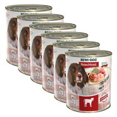 Nou Conservă BEWI DOG – Veal - 6 x 800g, 5+1 GRATUIT