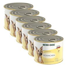 Bewi dog Paté - Chicken - 6 x 200g, 5+1 GRATUIT