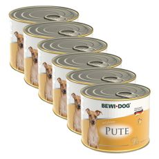 Bewi dog Paté – Turkey - 6 x 200g, 5+1 GRATUIT