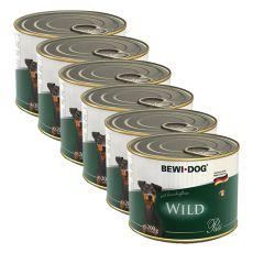 Bewi dog Paté – Wild - 6 x 200g, 5+1 GRATUIT