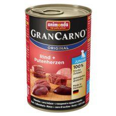Conservă GranCarno Original Junior carne de vită și inimi de curcan - 400g