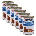 Conservă ONTARIO pentru pisici - cu vită, somon și ulei - 6 x 400g