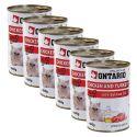 Conservă ONTARIO pentru pisici - cu pui, curcan și ulei - 6 x 400g