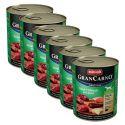 Conservă GranCarno Original Adult carne de vită și cerb cu măr - 6 x 800g