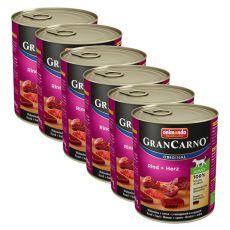Conservă GranCarno Original Adult Vită și inimă - 6 x 800g