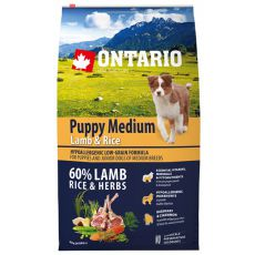ONTARIO Puppy Medium Lamb & Rice 6,5kg