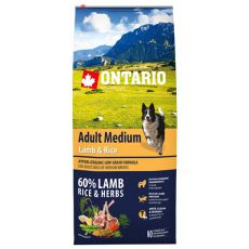ONTARIO Adult Medium Lamb & Rice 12kg