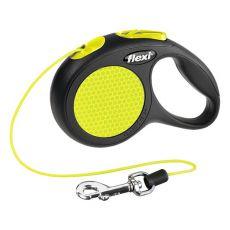 Lesă Flexi Neon XS - până la 8kg - 3m şnur