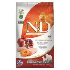 Farmina N&D GF PUMPKIN  adult dog medium/maxi, chiken & pomegranate - 12kg