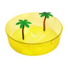 Terariu din plastic pentru țestoase- galben  24,5cm